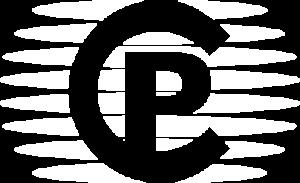 CP logo white